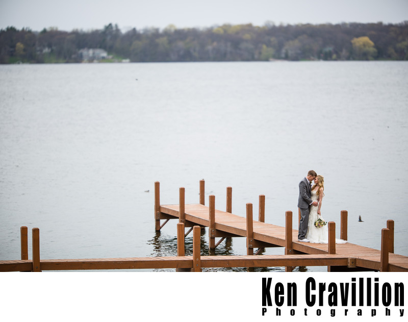 Heidel House Green Lake Dock Wedding Photograph