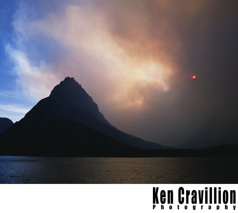 Glacier National Park Grinnell Forest Fire Photo