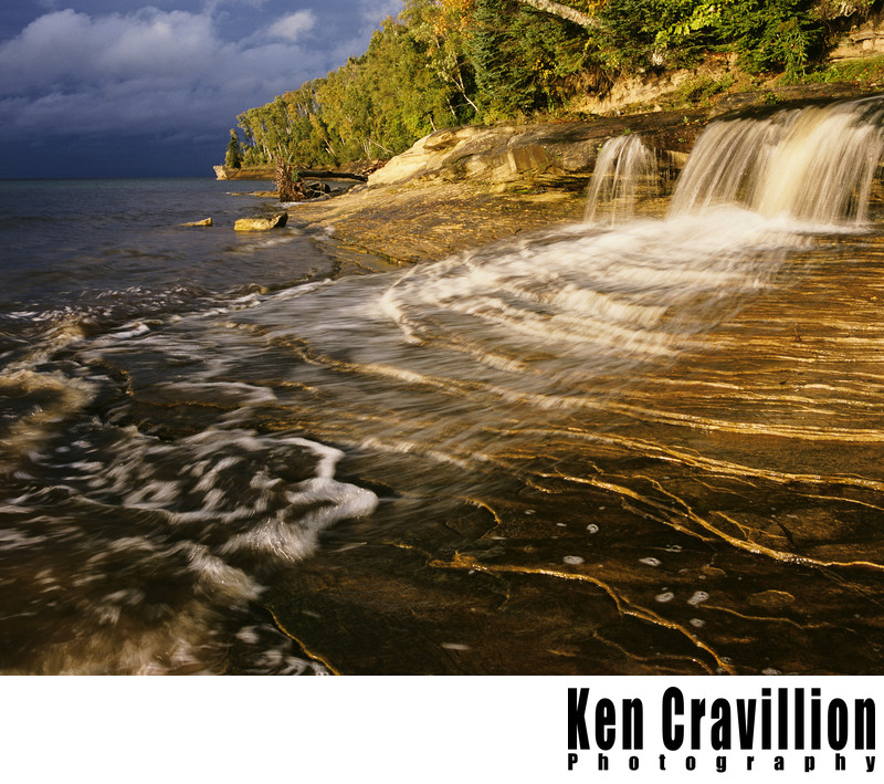 Pictured Rocks Upper Michigan Waterfall Photo