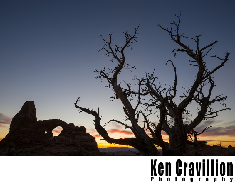 Turret Arch Sunset Zion National Park Utah Photo