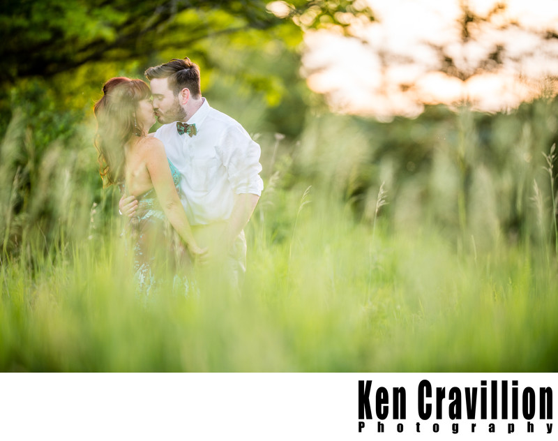 Door County Barn Wedding Kiss Photo 66