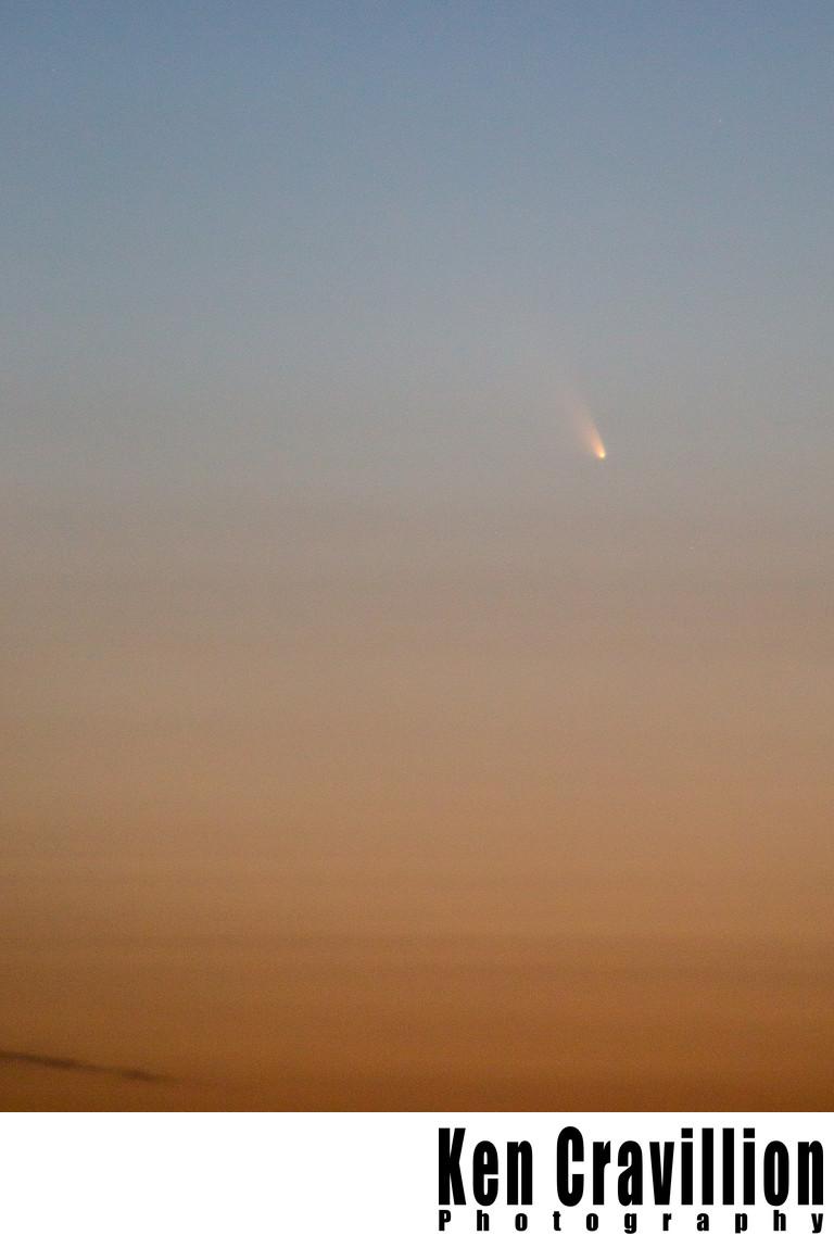 Comet PANSTARRS Orange Sunset Photograph