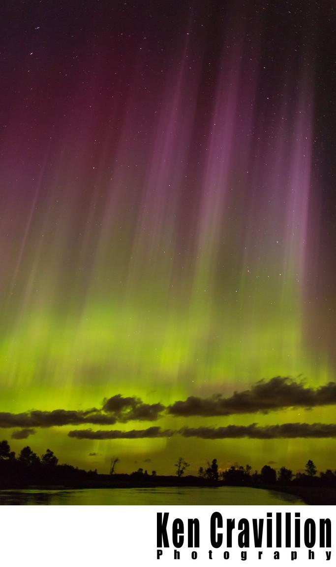 Northern Lights Aurora Central Wisconsin Photo