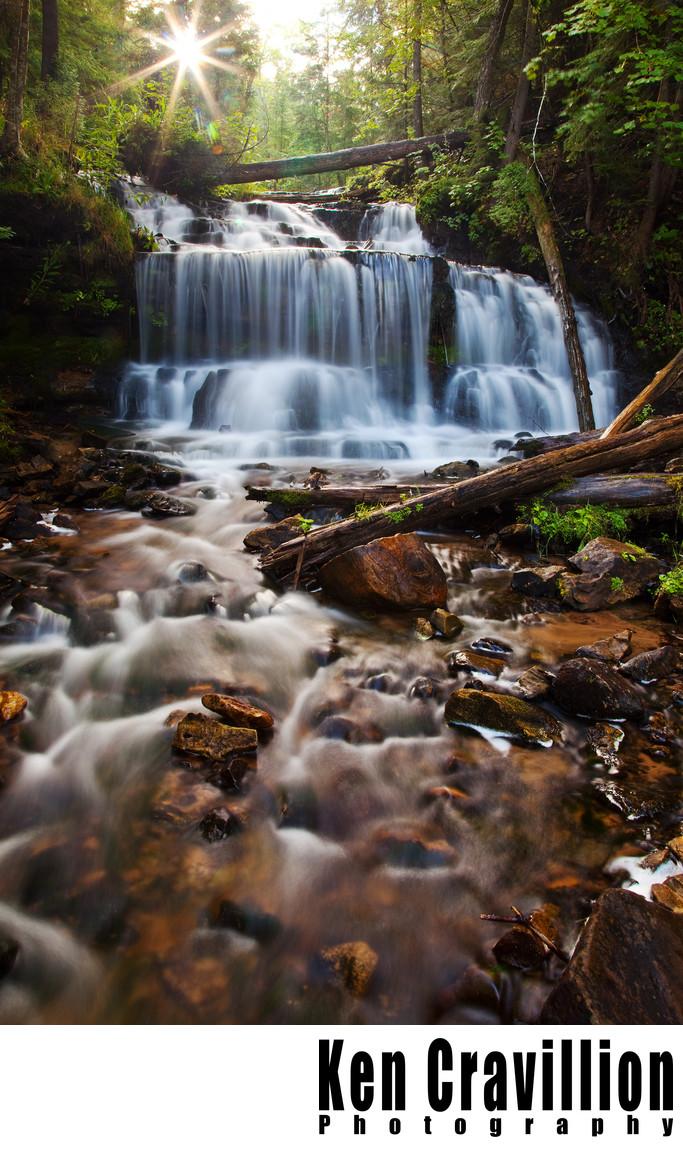 Wagner Falls Waterfall Upper Michigan Photo