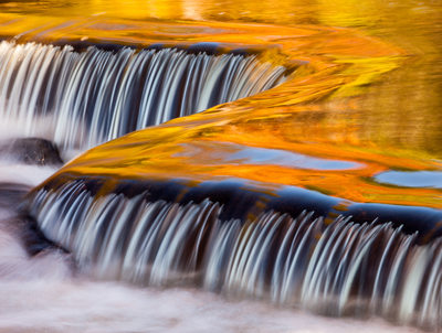 Bond Falls Fall Rapids Reflection Upper Michigan Photo