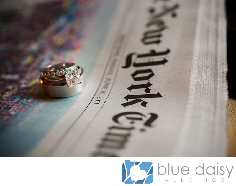 Diamond engagement ring wedding bands on the NY Times
