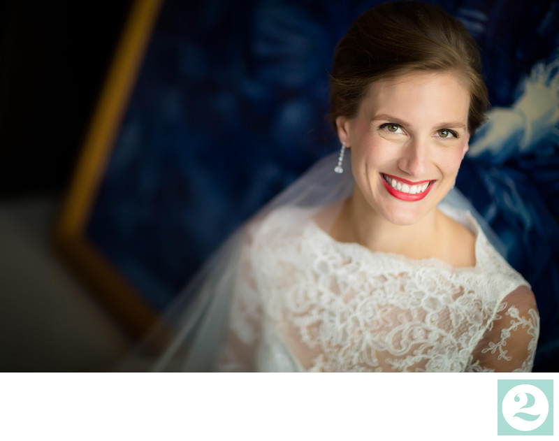 Luisa bridal portrait at Architectural Artifacts
