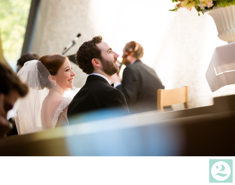 Happy Couple Enjoy their Wedding Ceremony