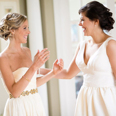 Happy Bridesmaids' Candid Laughter