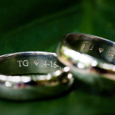 Engraved Tiffany Men's wedding ringts