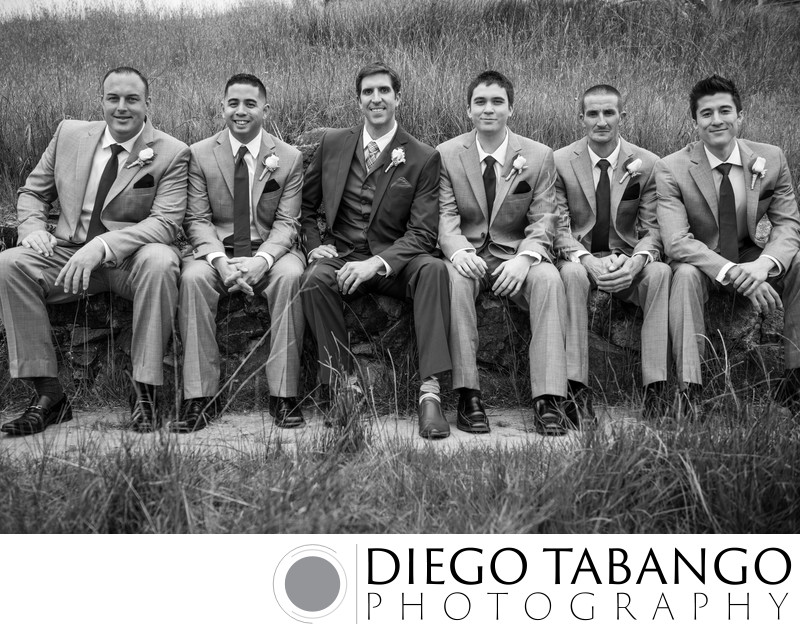 Groom and Groomsmen Images in Santa Cruz
