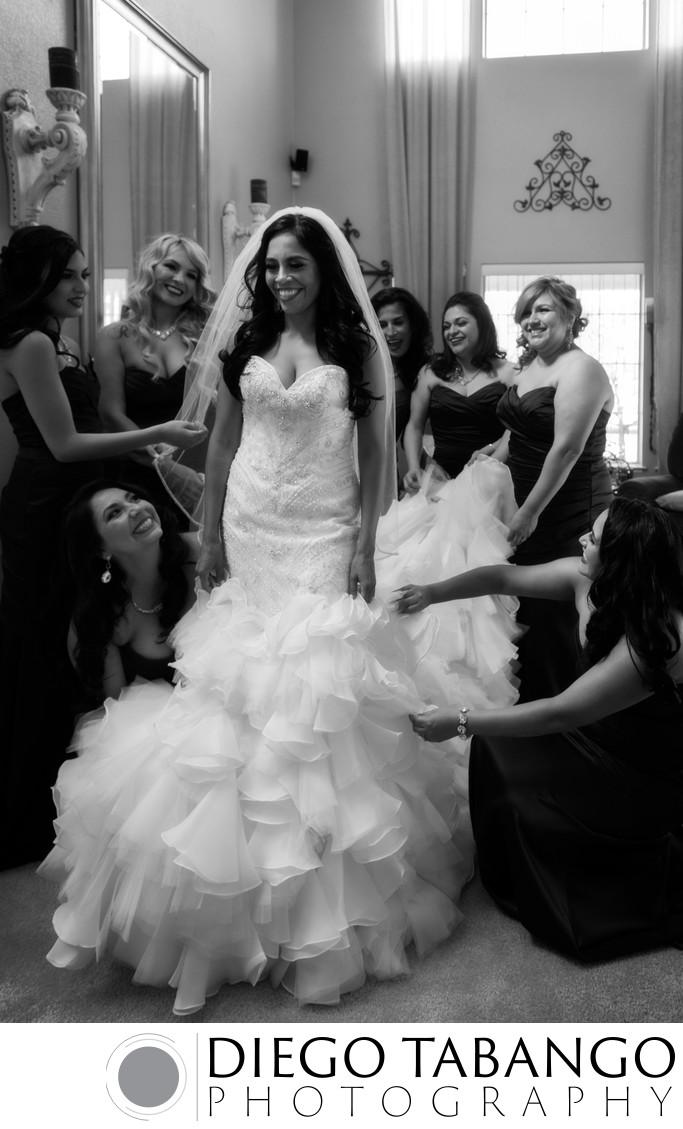 Bride Getting Ready in Santa Cruz