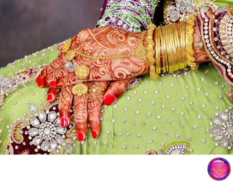 Gold Diamond Indian Wedding Photographers at Walima