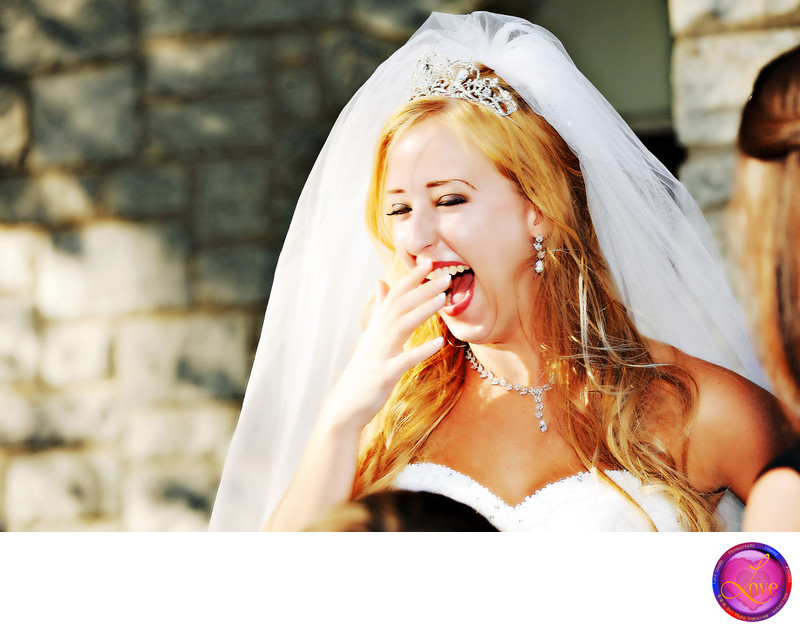 Top Ten Wedding Photographer in Atlanta Laughing Bride
