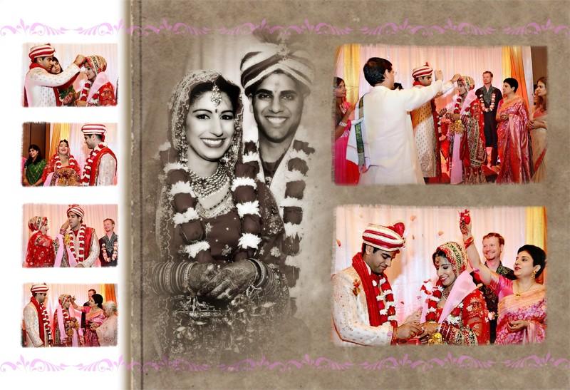 Indian Wedding Album Design Photographer - Sunaina & Karan ...