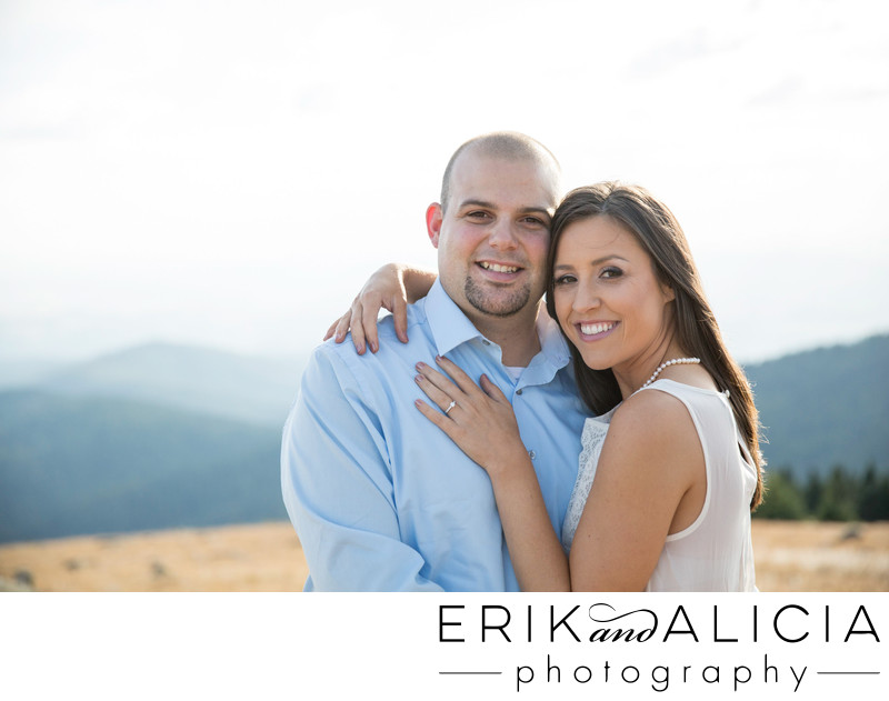 mountain top engagement embrace