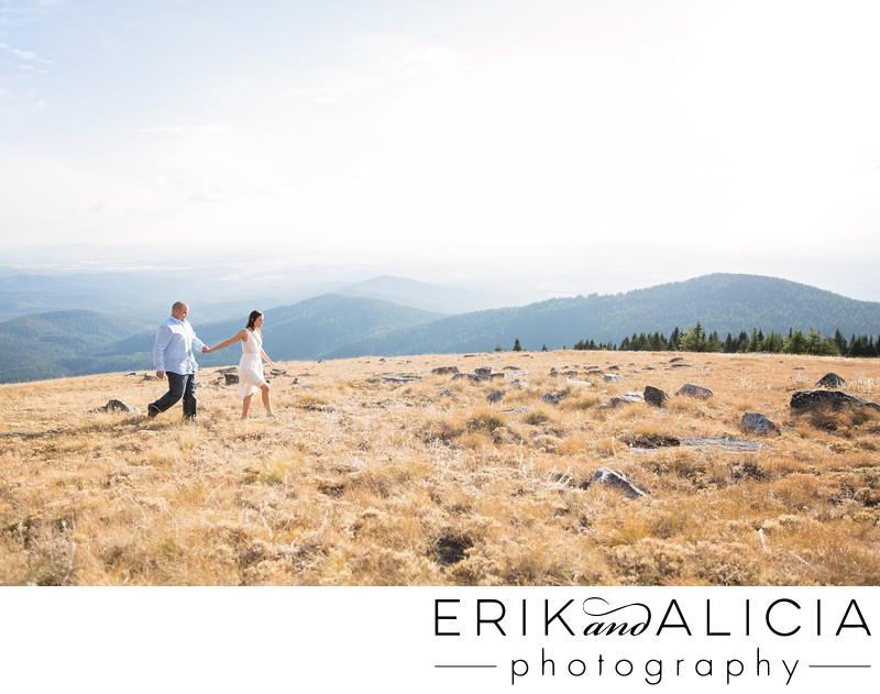 Spokane Mountain peak candid moment