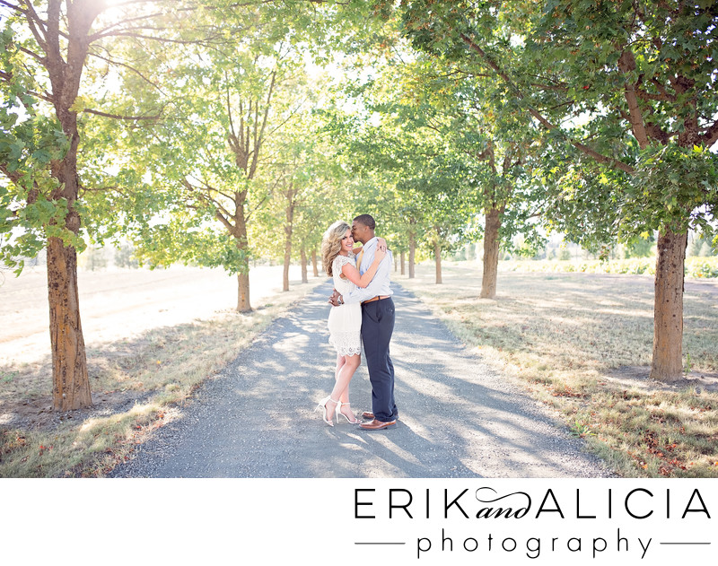 tree lined road green bluff engagement