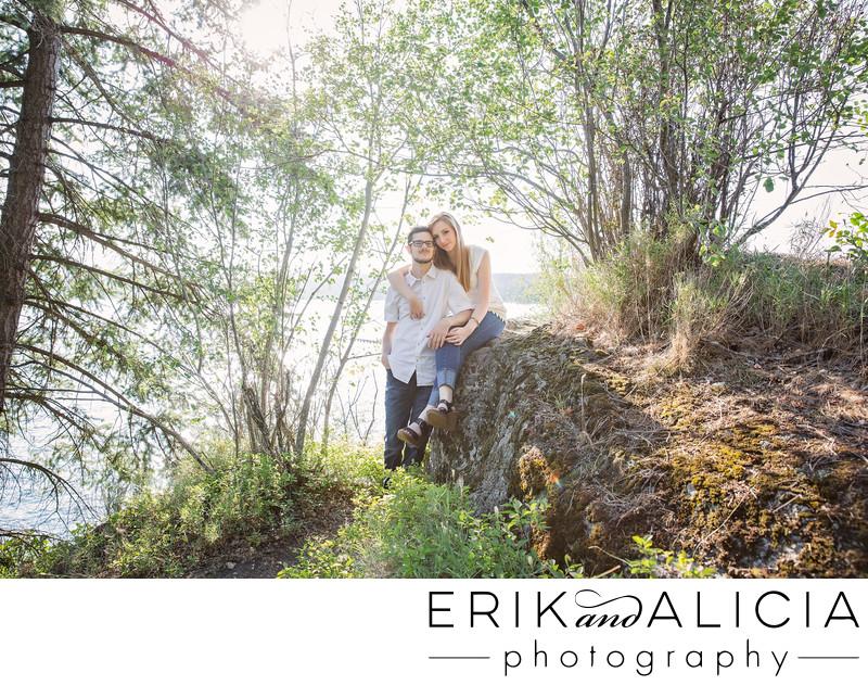 Tubbs Hill Coeur d'Alene romantic engagement