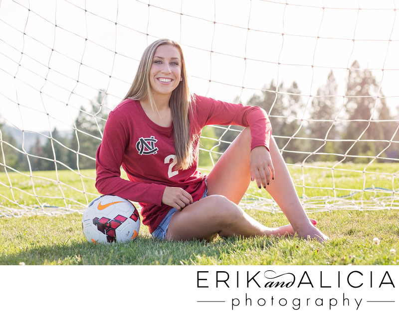 senior soccer team captain portrait