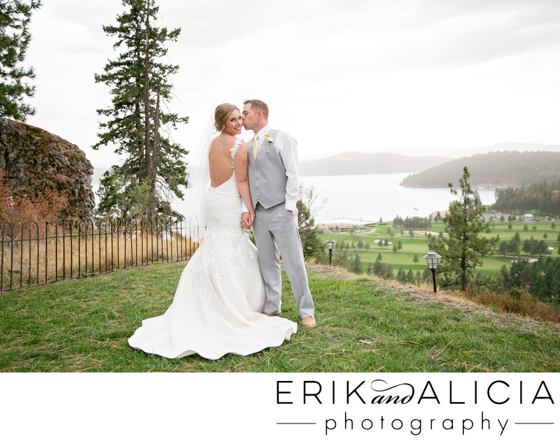 Elk Point Cour D'Alcne  bridal portrait