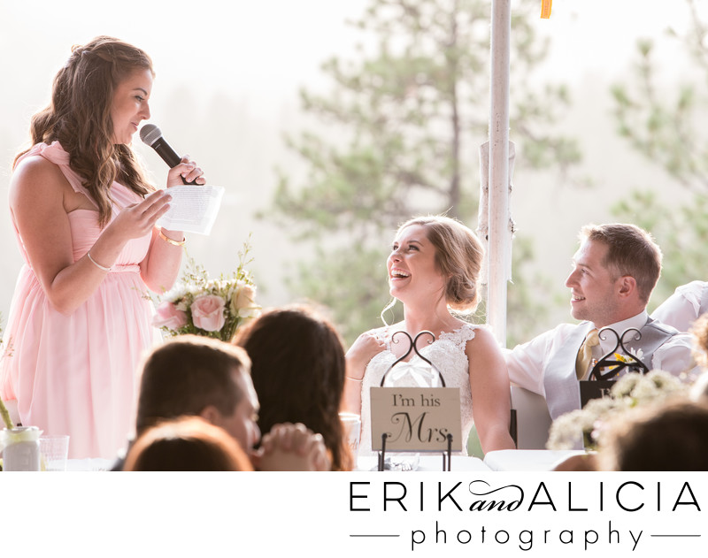 Hilarious first speech by maid of honor