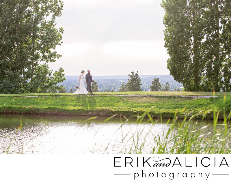 Wedding day walk Beacon Hill pond