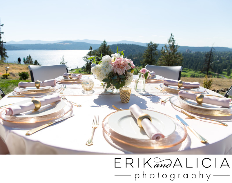 gold trim china plates beautiful outdoor reception