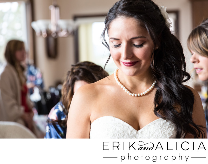 Blissful bride final touch ups