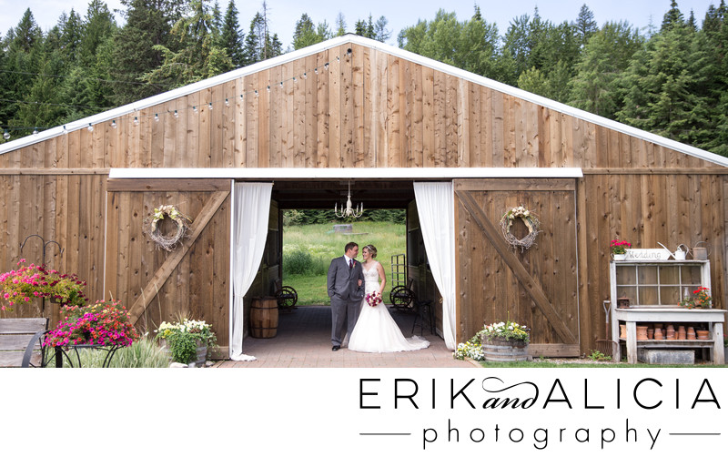 Quail Run Ranch brown barn bridal portrait