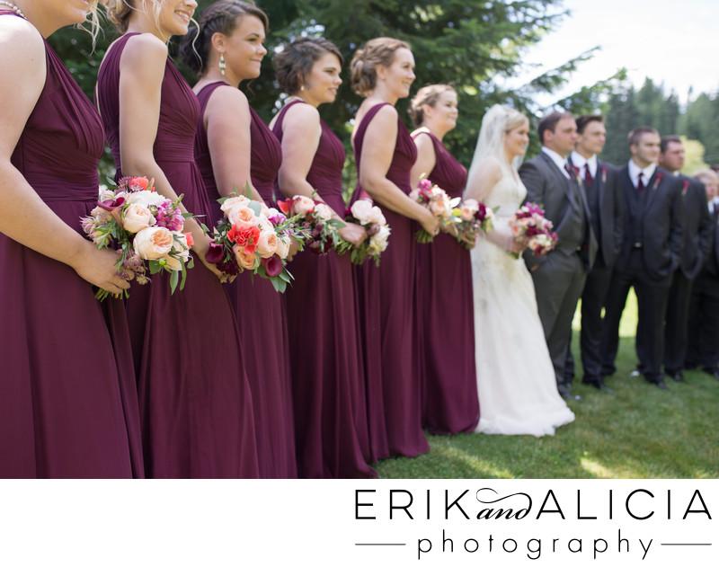Elegant simple bridesmaid flowers