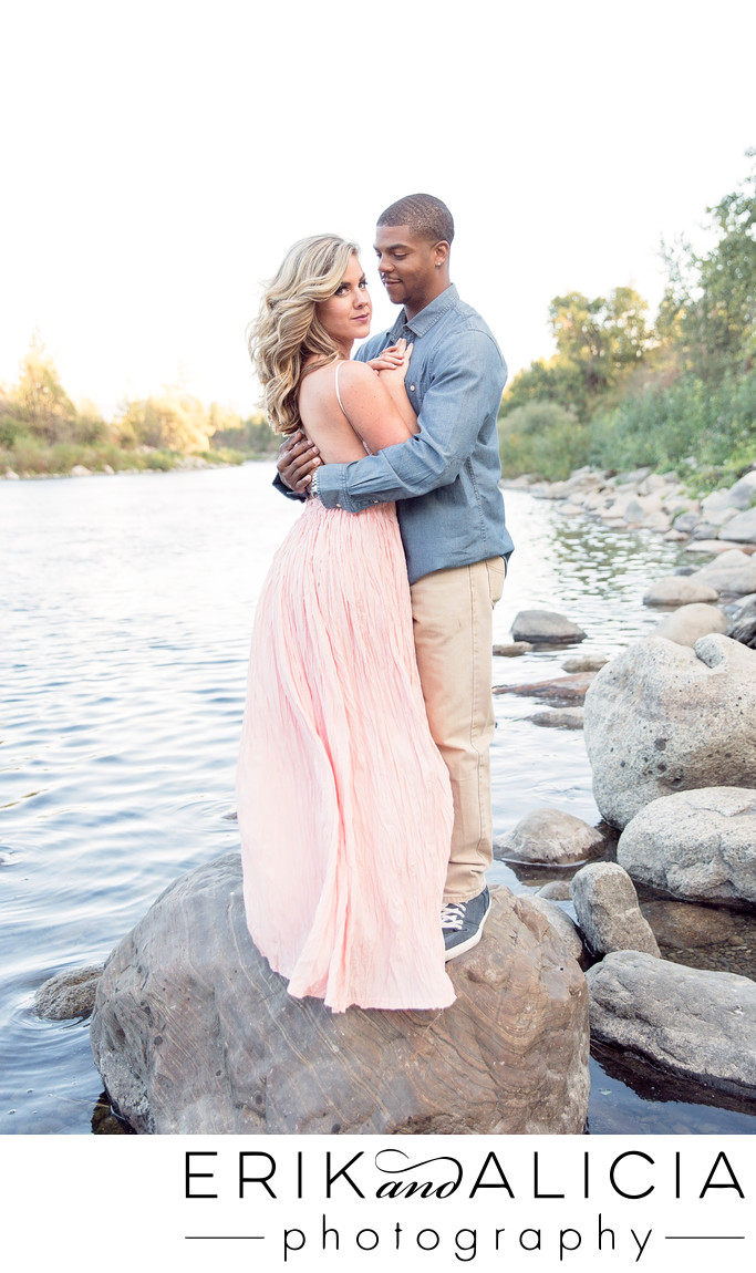 pink gown wind engagement