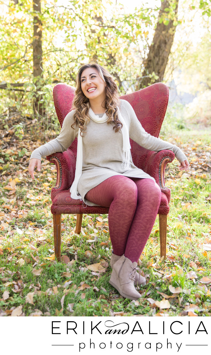 tan dress and red tights great fall attire