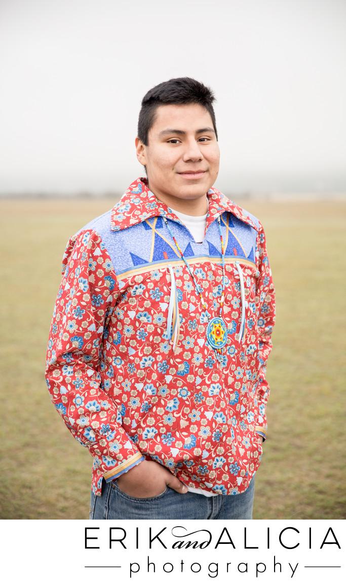 native american high school senior ribbon shirt