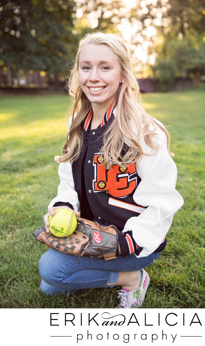 lewis and clark hs senior softball girl