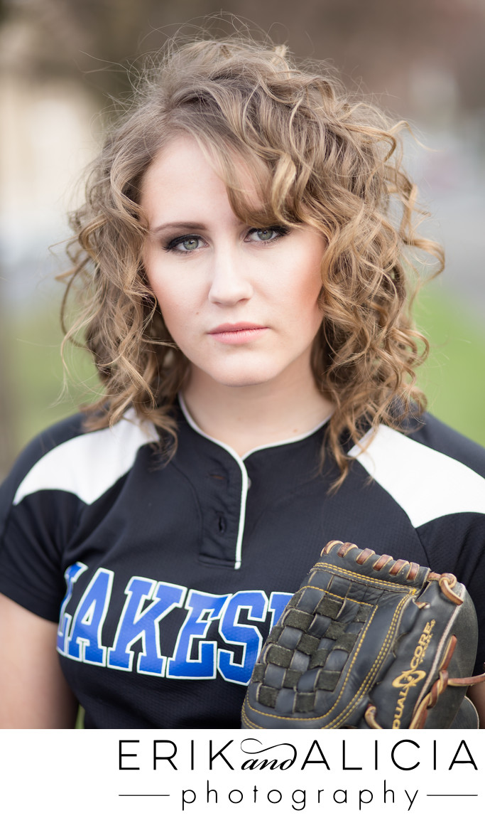 lakeside high school softball senior curly hair