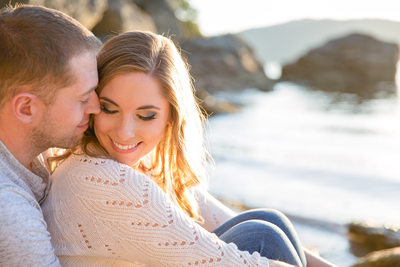 beautiful natural light engagement portrait