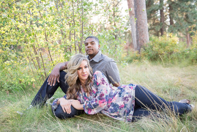 grassy field engagement of love