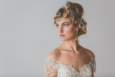 studio inspiration stunning bridal portrait