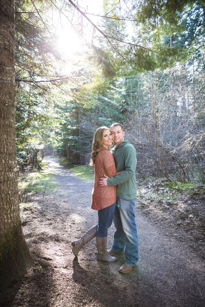 wooded engagement pose foot pop