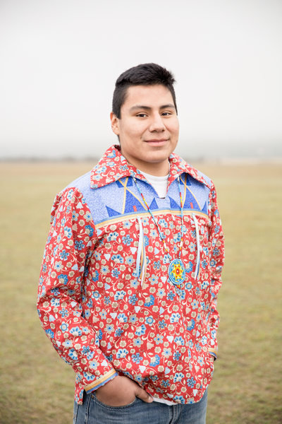 native american high school senior ribbon shirt