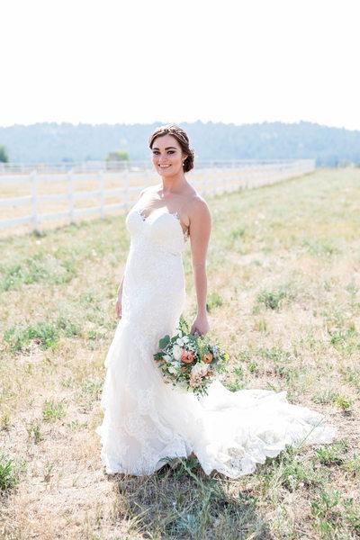 destination wedding beautiful Colorado bride
