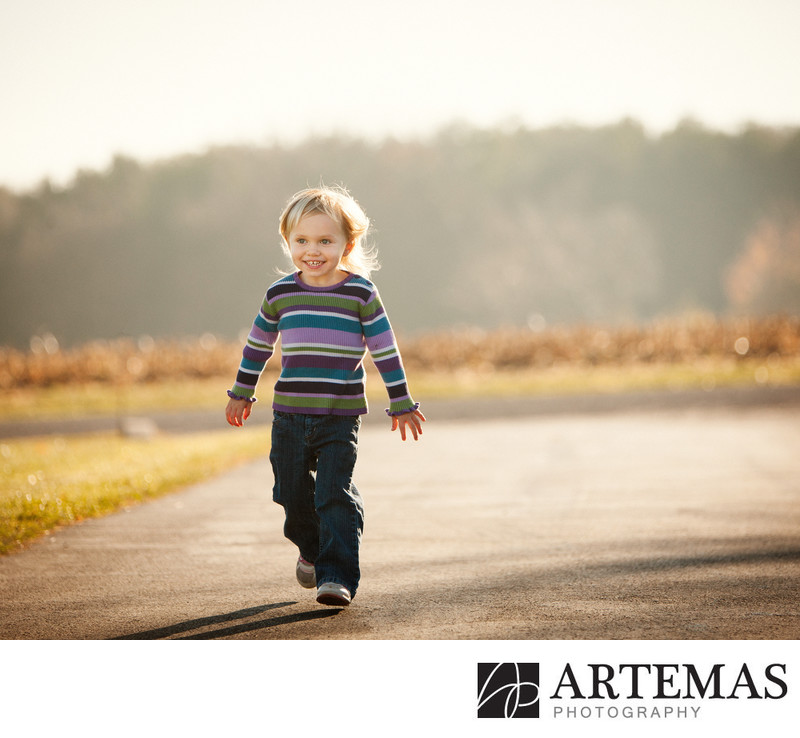 Stewartstown PA Child Portrait Photographers Location