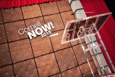 Cornell Now 2015 Speaker's Podium in Barton Hall NY