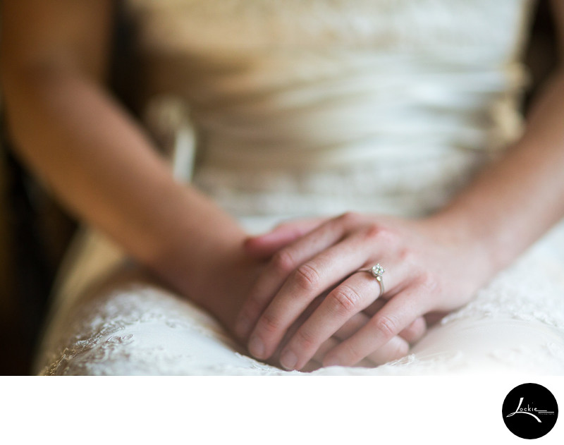 Picture of bride's hands ring Weatherwood Homestead