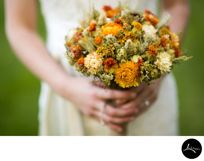 dried flower wedding bouquets images