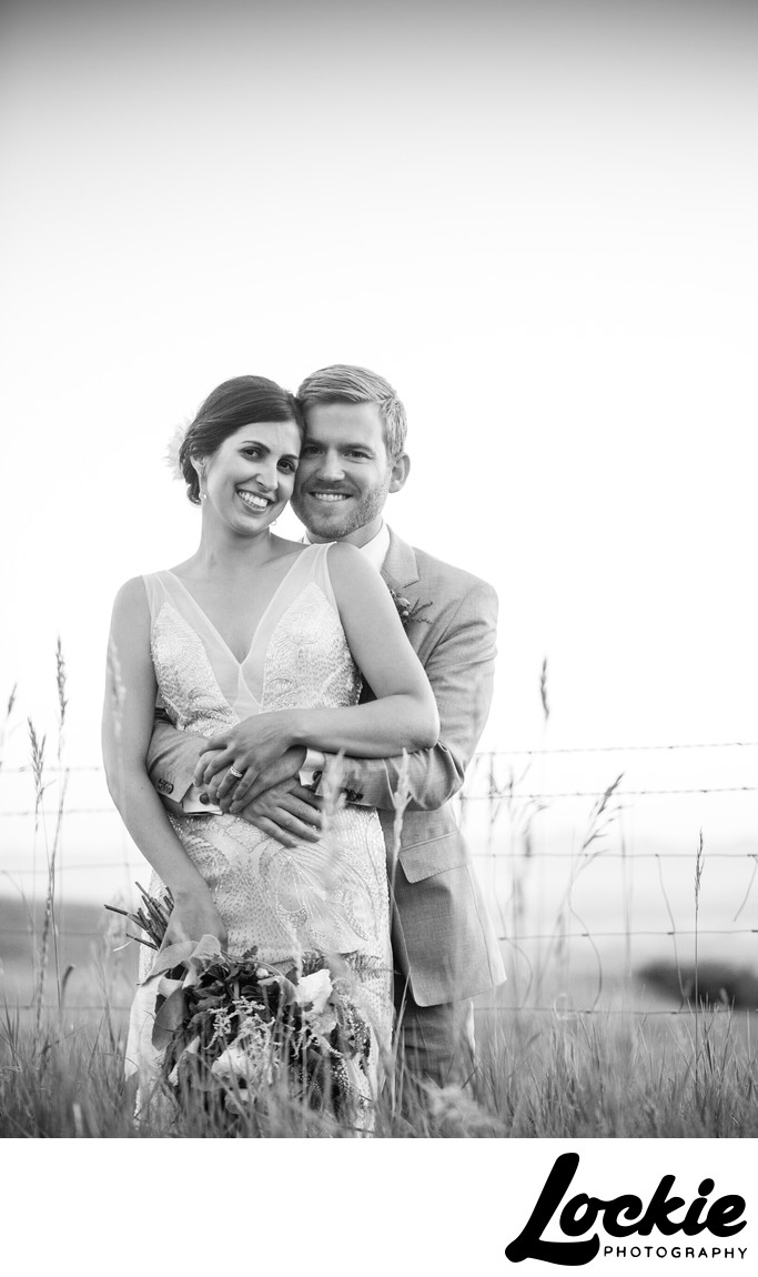 Montana wedding photographer pictures in field