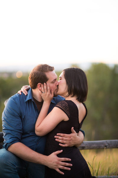 Engagement pictures on Pete's Hill in Bozeman Montana