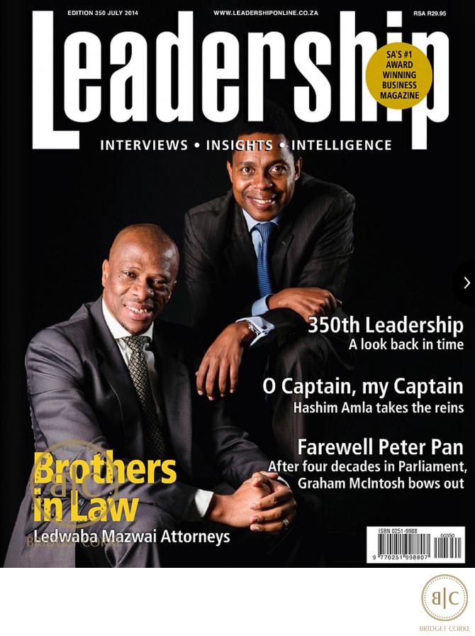 Cover of Leadership Magazine Ledwaba Mazwai