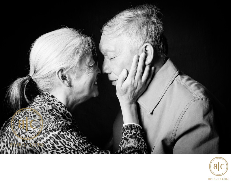 Chinese Grandparents in Studio Shoot